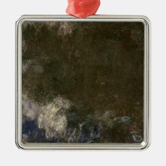 Claude Monet   die Wasserlilien die Wolken, Quadratisches Silberfarbenes Ornament