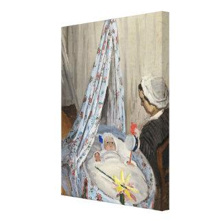 Claude Monet | die Wiege, Camille mit Sohn Jean Leinwanddruck