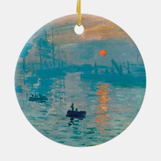 CLAUDE MONET - Eindruck, Sonnenaufgang 1872 Keramik Ornament