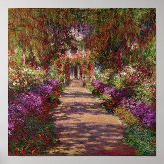 Claude Monet | eine Bahn in Monets Garten Poster