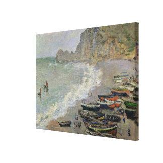 Claude Monet | Etretat, Strand und Porte d'Amont Leinwanddruck