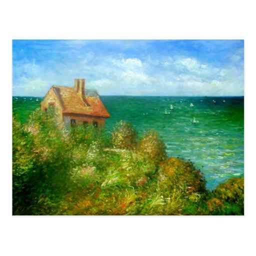 Claude Monet: Fishermans Hütte bei Varengeville Postkarte