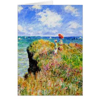 Claude Monet - Franzosen Clifftop - Karte