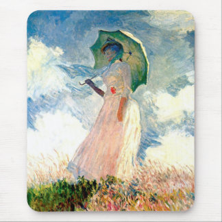 Claude Monet-Frau mit Sonnenschirm Mauspad