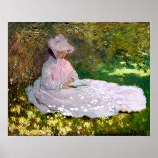 Claude Monet-Frühjahr-Impressionismus-Malerei Poster