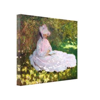 Claude Monet-Frühjahr-Impressionismus-Verpackung Leinwanddruck