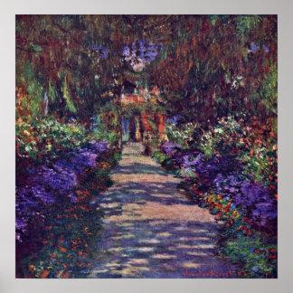 Claude Monet - Gartenweg Poster