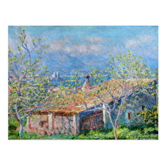 Claude Monet: Gärtner bringen in Antibes unter Postkarte