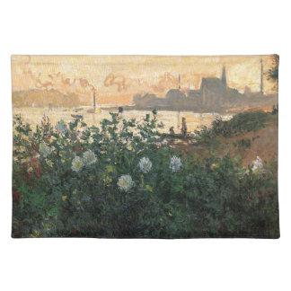 Claude Monet - geblühter Riverbank Argenteuil Tischset
