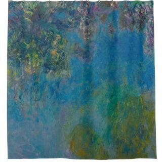 Claude Monet-Glyzinie-schöne Kunst BlumenGalleryHD Duschvorhang