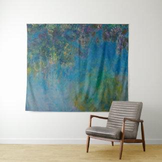 Claude Monet-Glyzinie-schöne Kunst BlumenGalleryHD Wandteppich