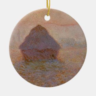 Claude Monet | Grainstack, Sun im Nebel Keramik Ornament
