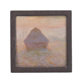 Claude Monet | Grainstack, Sun im Nebel Schmuckkiste