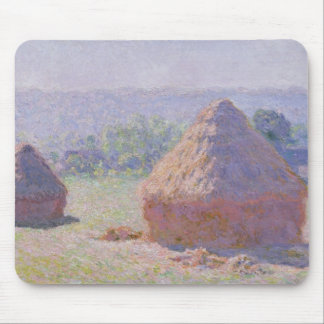 Claude Monet | Grainstacks am Ende des Sommers Mousepad