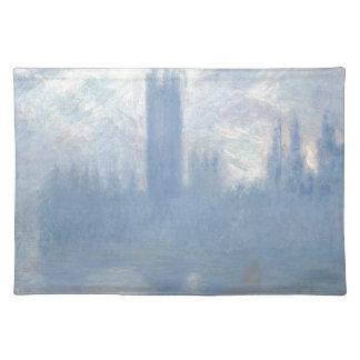 Claude Monet - Häuser von Parlaments-London-Kunst Stofftischset