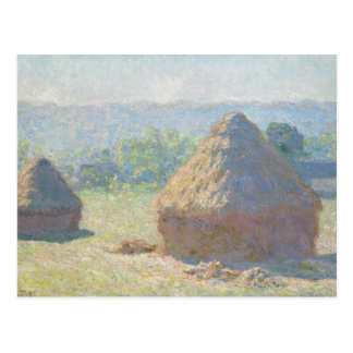 Claude Monet - Heuschober, Ende des Sommers Postkarte