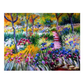 Claude Monet: Iris-Garten durch Giverny Postkarte