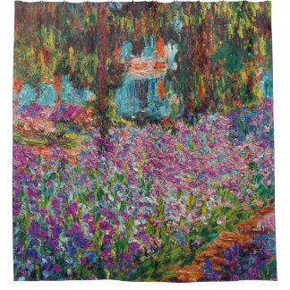 Claude Monet - Iris Monets in der Garten-schönen Duschvorhang