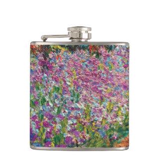 Claude Monet - Iris Monets in der Garten-schönen Flachmann