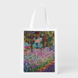 Claude Monet - Iris Monets in der Garten-schönen Wiederverwendbare Einkaufstasche