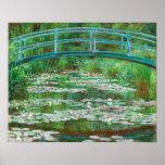 Claude Monet: Japanischer Steg Poster