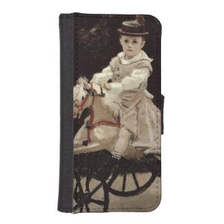Claude Monet | Jean Monet auf seinem Hobby-Pferd, iPhone SE/5/5s Geldbeutel