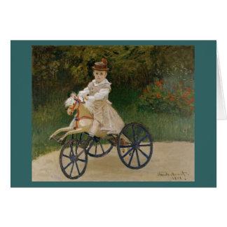 Claude Monet - Jean Monet auf seinem Hobby-Pferd Karte