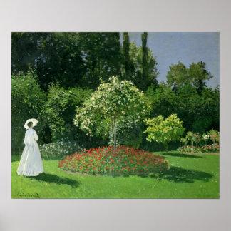 Claude Monet | Jeanne Marie Lecadre im Garten Poster