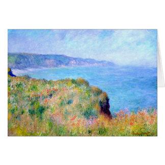 Claude Monet: Klippe nahe Pourville Karte