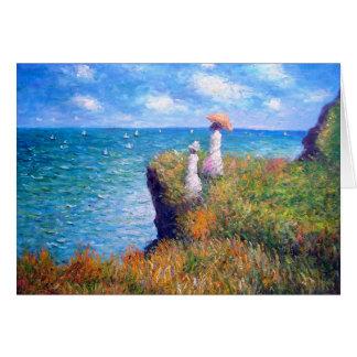 Claude Monet: Klippen-Weg bei Pourville Grußkarte