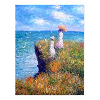 Claude Monet: Klippen-Weg bei Pourville Postkarten