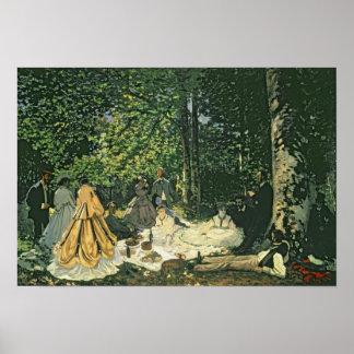 Claude Monet | Le Dejeuner sur l'Herbe, 1865-1866 Poster