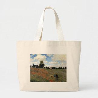 Claude Monet - Les Coquelicots Jumbo Stoffbeutel