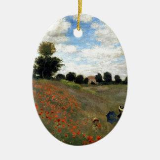 Claude Monet - Les Coquelicots Keramik Ornament