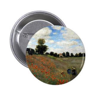Claude Monet - Les Coquelicots Runder Button 5,7 Cm