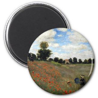 Claude Monet - Les Coquelicots Runder Magnet 5,1 Cm