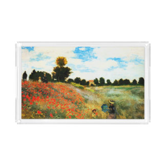 Claude Monet-Mohnblumen in Argenteuil Acryl Tablett