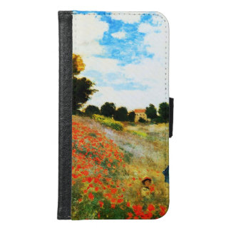Claude Monet-Mohnblumen in Argenteuil Geldbeutel Hülle Für Das Samsung Galaxy S6