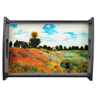 Claude Monet-Mohnblumen in Argenteuil Tablett