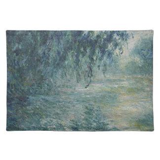 Claude Monet - Morgen auf dem die Seine-Kunstwerk Stofftischset