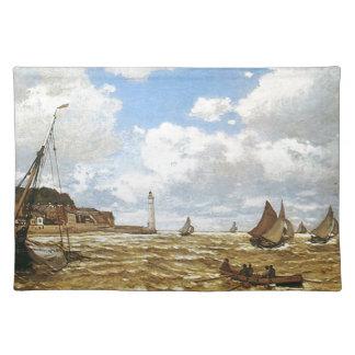 Claude Monet - Mund der die Seine-Grafik Stofftischset
