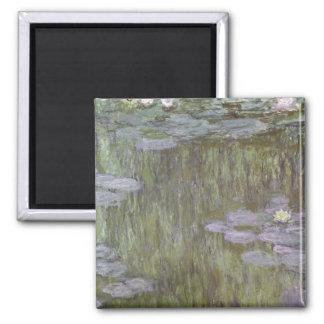 Claude Monet   Nympheas bei Giverny, 1918 Quadratischer Magnet