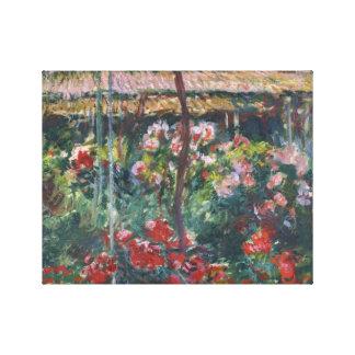 Claude Monet - Pfingstrosen-Garten Leinwanddruck