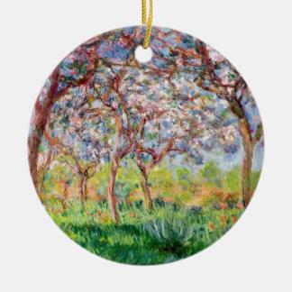 Claude Monet | Printemps ein Giverny Rundes Keramik Ornament