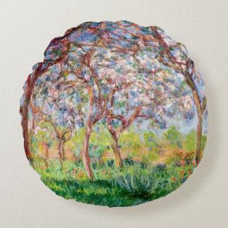 Claude Monet | Printemps ein Giverny Rundes Kissen