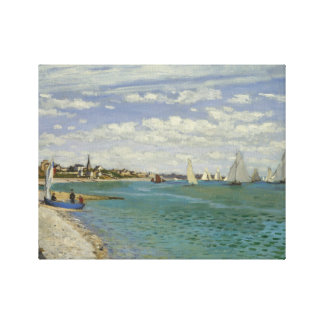 Claude Monet - Regatta bei Sainte-Adresse Leinwanddruck