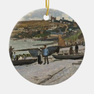 Claude Monet | Sainte-Adresse, 1867 Rundes Keramik Ornament