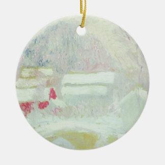 Claude Monet | Sandviken, Norwegen Rundes Keramik Ornament