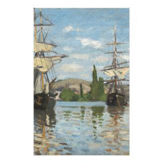 Claude Monet-Schiffe, die auf die Seine in Rouen Briefpapier