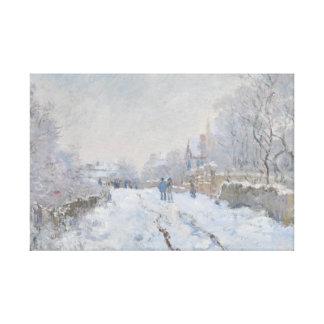 Claude Monet - Schnee-Szene in Argenteuil Leinwanddruck